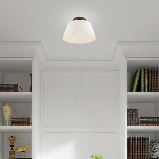 "Livex Lighting Belclaire 13"" 1-Light English Bronze Semi-Flush Mount Light - Home Depot"