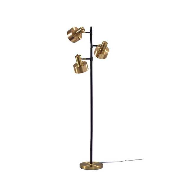 Adesso Clayton 66.5 in. Brass Floor Lamp - Home Depot