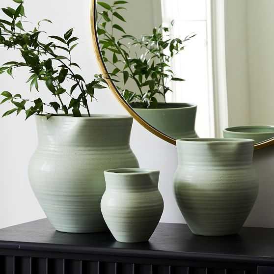 Ceramic Vases, Sage, Set of 3 - West Elm