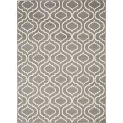 Geometric Gray/Ivory Area Rug - Wayfair