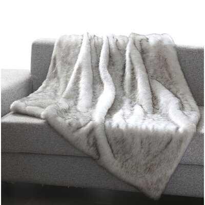 Thiele Luxury Tip Dye Faux Fur Throw - Birch Lane
