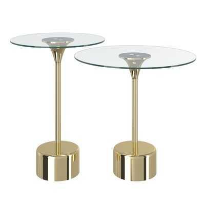 Gabby Glass Top Pedestal Nesting Tables - Wayfair
