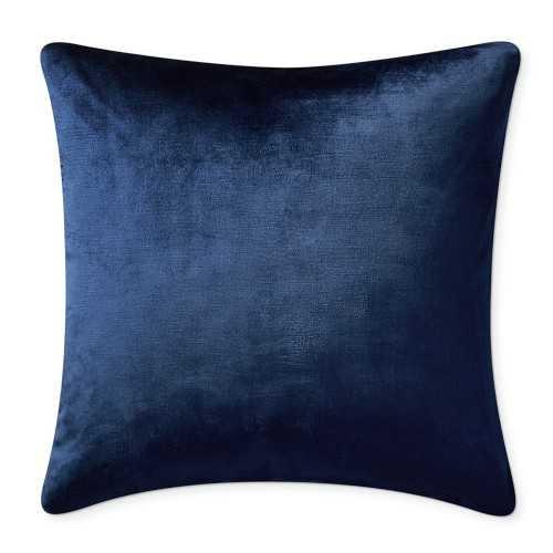 """Solid Velvet Pillow Cover, 22"""" x 22"""", Navy - Williams Sonoma"""