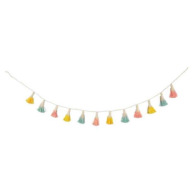 Meri Meri Modern Cotton Dip Dyed Tassel Garland - Kathy Kuo Home