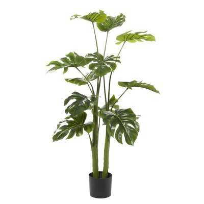 """48"""" Artificial Swiss cheese plant Plant in Pot - Wayfair"""