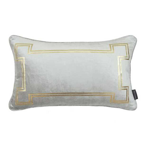 Thurston Reed Velvet Feathers Lumbar Pillow Color: Cool Gray - Perigold