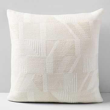 """Cuddle Jacquard Pillow Case, Natural Canvas, 20""""x20"""" - West Elm"""