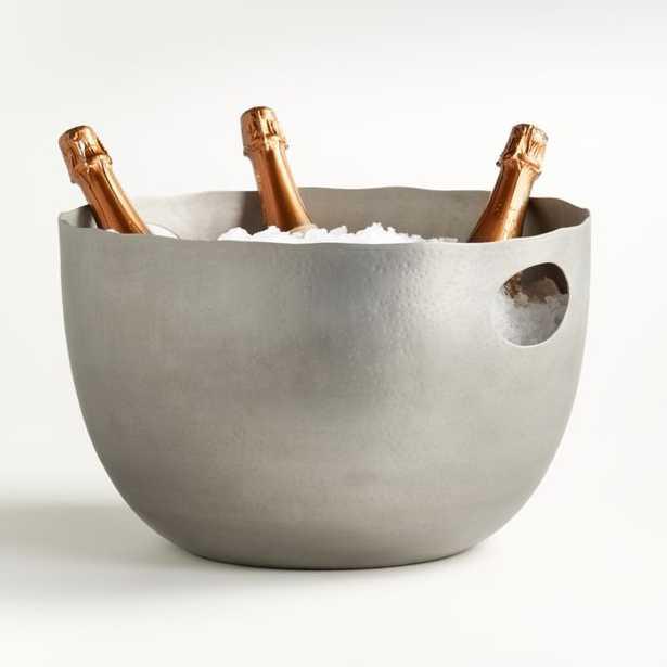 Blake Brushed Silver Beverage Tub - Crate and Barrel