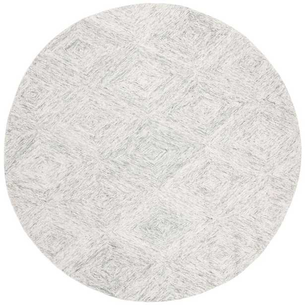 Safavieh Abstract Silver 6 ft. x 6 ft. Round Area Rug - Home Depot