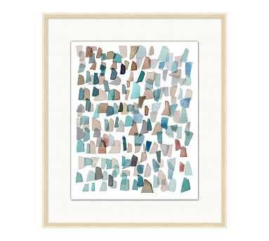 "Cabo Sea Glass 2 Framed Print, 23.25"" x 27.25"" - Pottery Barn"