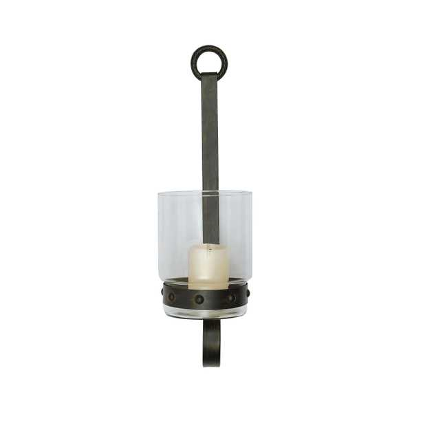 Glass & Metal Wall Sconce Candle Holder - Nomad Home