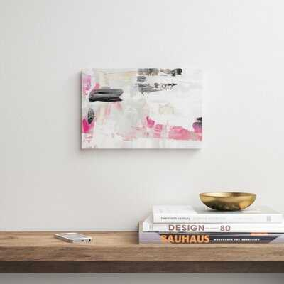 Neon Rose Dream - Wrapped Canvas Graphic Art Print - AllModern