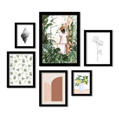 Green Florals & Botanical Morocco by Sabina Fenn - 6 Piece Picture Frame Print Set on Paper - Wayfair