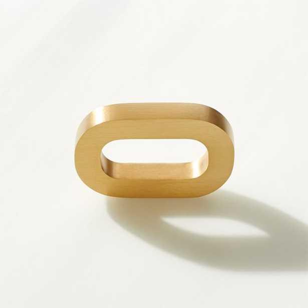 Link Knob Brushed Brass - CB2
