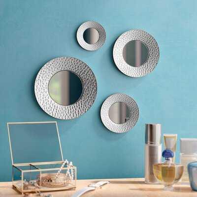 4 Piece Deon Modern & Contemporary Beveled Wall Mirror Set - Wayfair