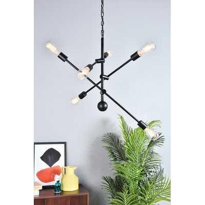 Johanne 6 - Light Sputnik Modern Linear Chandelier - Wayfair