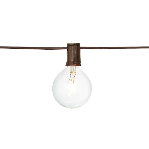 Hampton Bay 12 ft. Line Voltage 12-Light Large Cafe Clear Indoor/Outdoor String Lights (4-Pack) - Home Depot