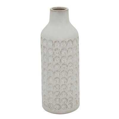 "White 18"" Ceramic Table Vase - Wayfair"