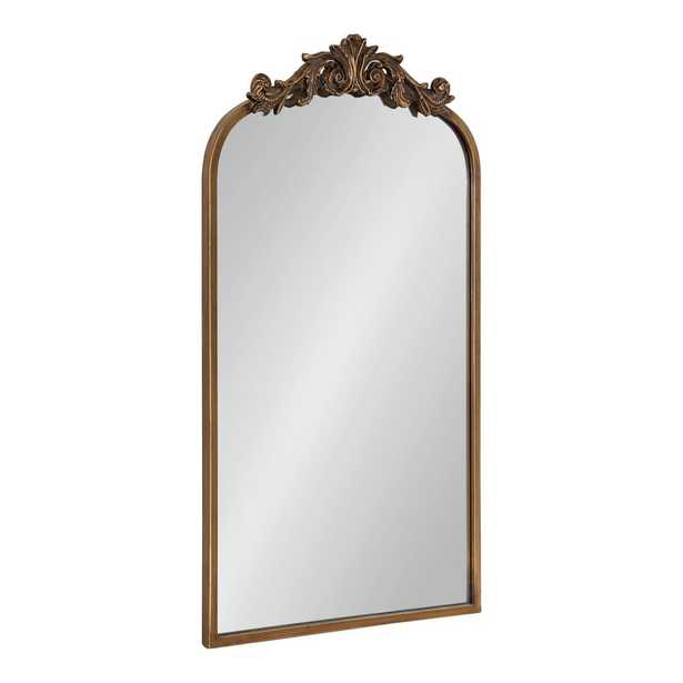 Kate and Laurel Arendahl Arch Gold Wall Mirror - Home Depot