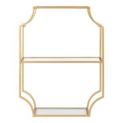 Everly Quinn Ciel Metal Wall Shelf 18X24 Gold - Wayfair
