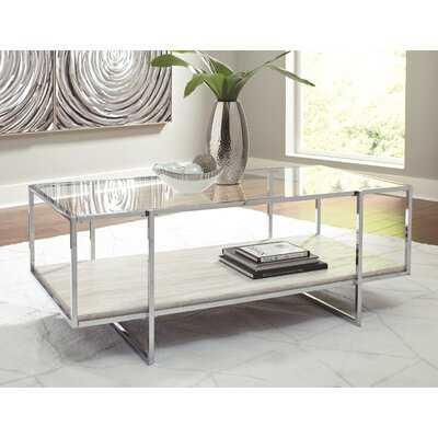 Hyattsville Floor Shelf Coffee Table with Storage - Wayfair