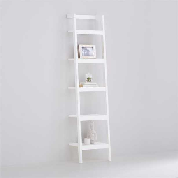 """Sawyer White Leaning 18"""" Bookcase - Crate and Barrel"""