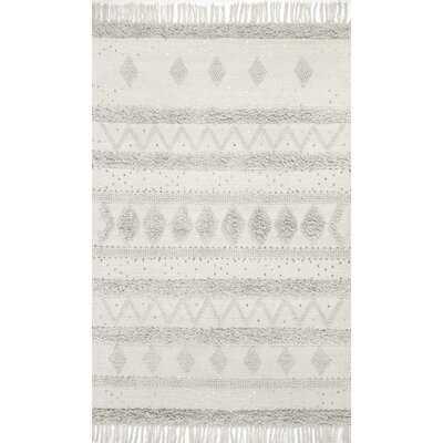 Lynch Geometric Handmade Tufted Wool Stone Area Rug - Wayfair