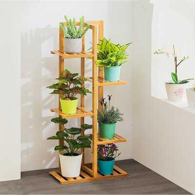 Bamboo Plant Stand Indoor & Outdoor Multiple Flower Pot Holder Shelf Rack - Wayfair