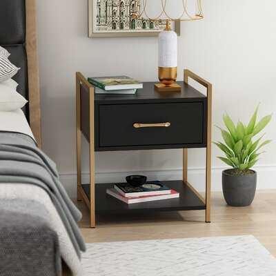 Modern Style Single Drawer Nightstand With Storage Shelf - Wayfair