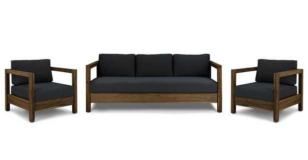Arca Vintage Brown Sofa Set - Article