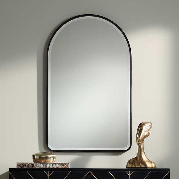 "Uttermost Clara Matte Black 24"" x 39"" Arch Top Mirror - Style # 79P36 - Lamps Plus"