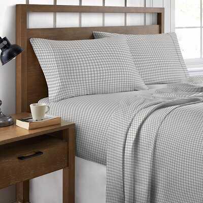 Millis 300 Thread Count Plaid 100% Cotton Sheet Set - Wayfair