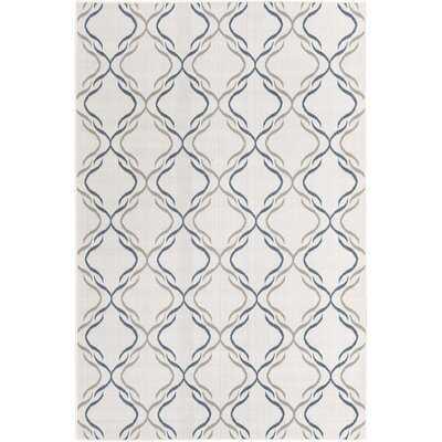 Draupadi Geometric Ivory Indoor / Outdoor Area Rug - Wayfair