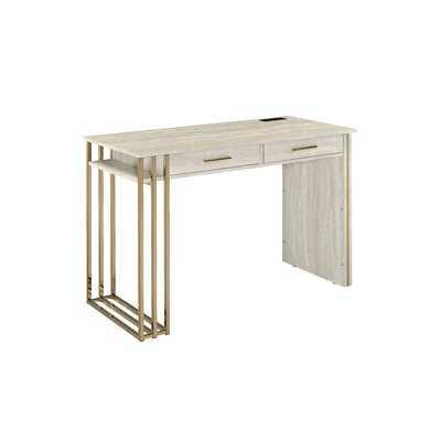 Kyneton Desk with Built in Outlets - Wayfair