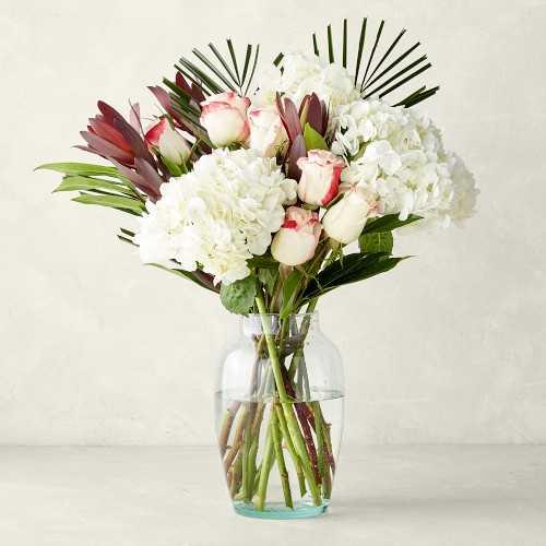 Rose Fantasy Bouquet with Vase - Williams Sonoma