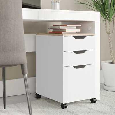 Bretagne Modern Vertical Filing Cabinet - Wayfair