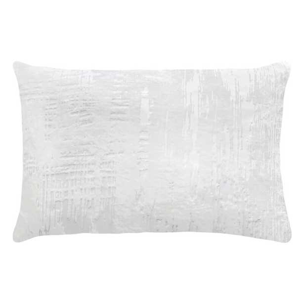 """Kevin O'Brien Studio Brushstroke Down Abstract Lumbar Pillow Color: Ivory, Size: 14"""" x 20"""" - Perigold"""