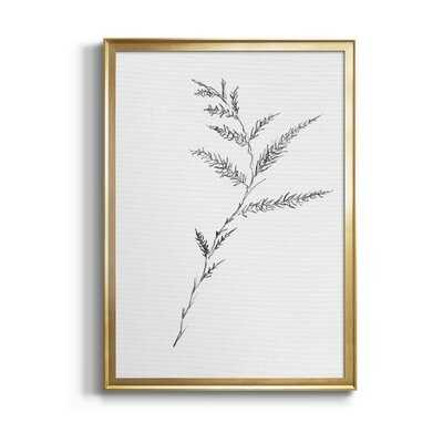 Floral Sketch Iii - Picture Frame Print on Canvas - Wayfair