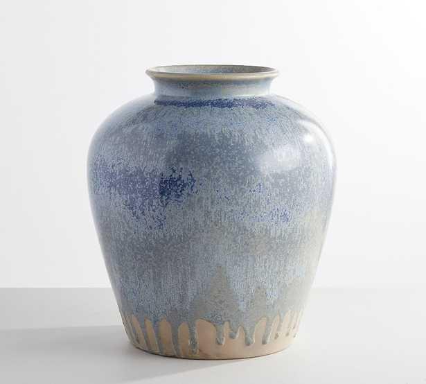 "Ceramic Seehorn Vase, Periwinkle, 14.5""H - Pottery Barn"