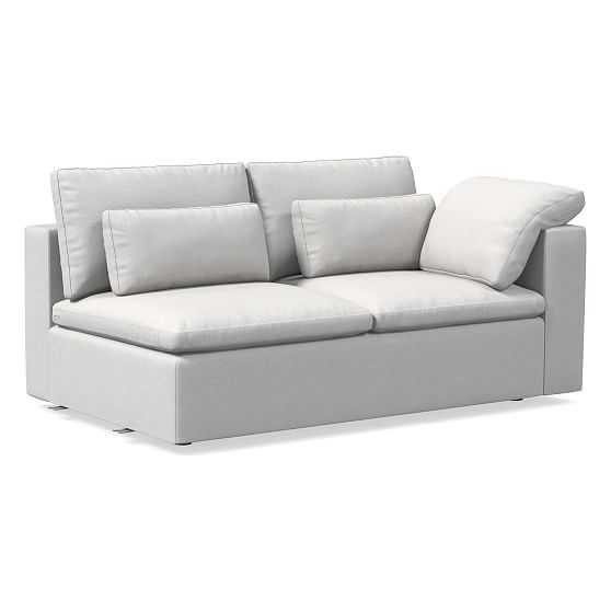 Harmony Modular Right Arm Sofa, Down, Eco Weave, Oyster, Concealed Supports - West Elm