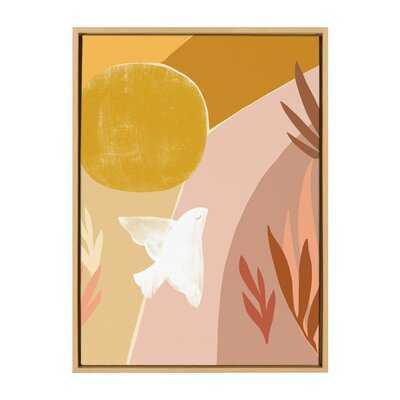 'Sunrise Dove' by Kate Aurelia Studio - Floater Frame Painting Print on Canvas - Wayfair