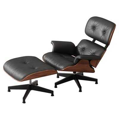Classic Eames Leather Lounge Chair - Wayfair