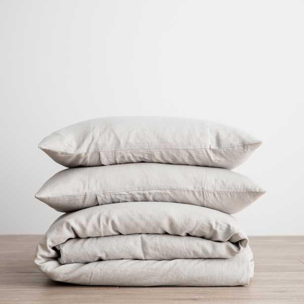 Cultiver Linen Bedding, Smoke Grey Duvet Set King - Lulu and Georgia