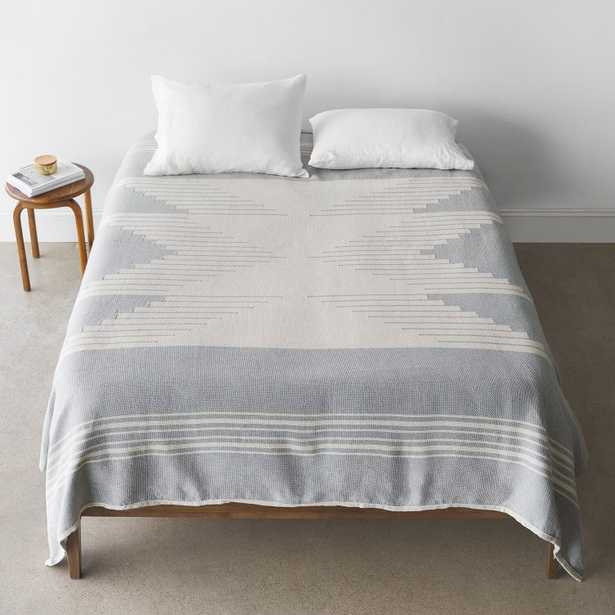 Bico Bed Blanket - Pewter - Queen By The Citizenry - The Citizenry