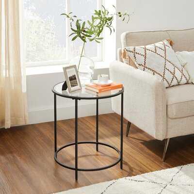 Bancroft Glass Top End Table - Wayfair