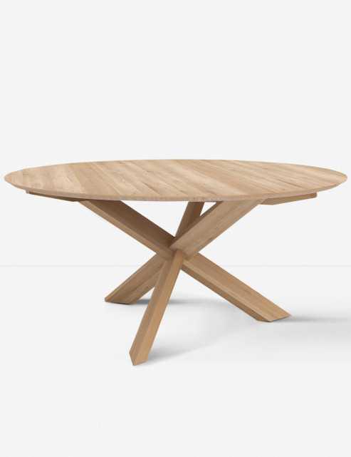 "Marteena Round Dining Table, Oak 54"" - Lulu and Georgia"