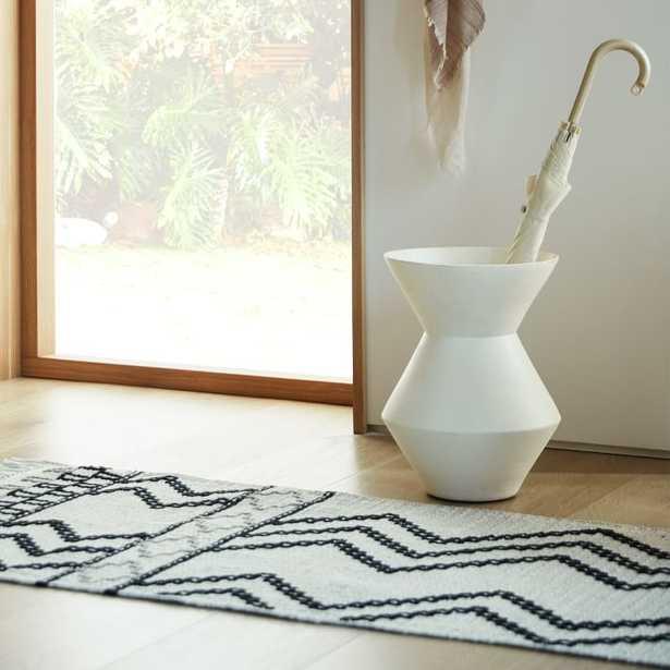 Thom Textured Floor Vase, White, Wide & Large, Set of 2 - West Elm