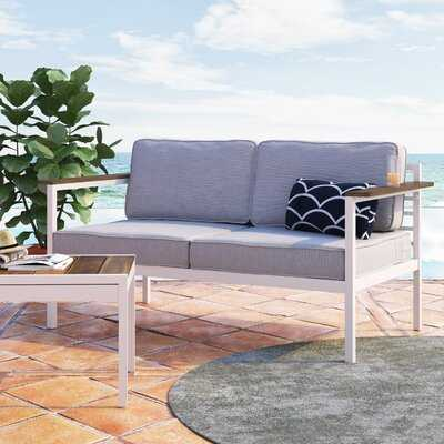 """Pablo 60.2"""" Wide Outdoor Loveseat with Cushions - Wayfair"""