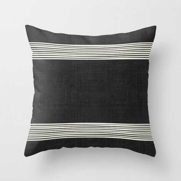 """Band In Black And White Couch Throw Pillow by Becky Bailey - Cover (20"""" x 20"""") with pillow insert - Outdoor Pillow - Society6"""