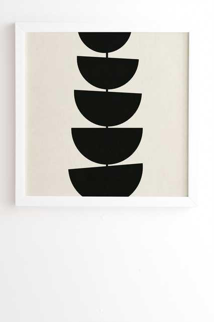 """Stem by Rose Beck - Framed Wall Art Basic White 12"""" x 12"""" - Wander Print Co."""